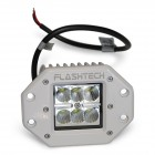 Flashtech LED Fog Light: 6 LED Flush Mount White