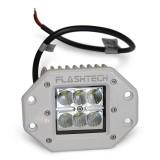 Flashtech LED Fog Light: 6 LED Flush Mount White