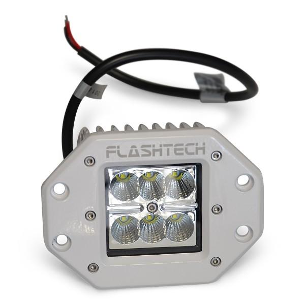 flashtech led fog light 6 led flush mount white