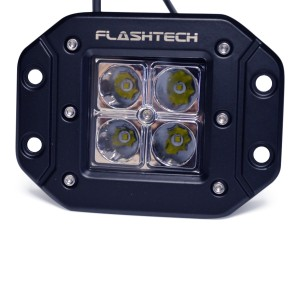 flashtech Flashtech LED Fog Light: 4 led Flush mount Flush Mount FTLB1212FC-B