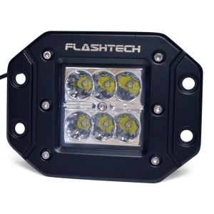 flashtech Flashtech LED Fog Light: 6 led Flush mount Flush Mount FTLB1218FC-B