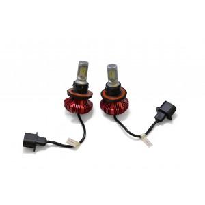 F4 LED Headlight Bulbs: H13 Bulb Size  FTF4-H13.6