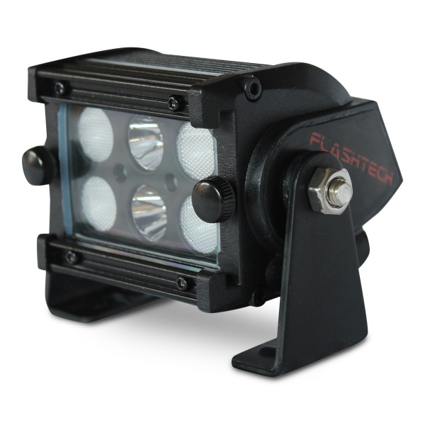 Flashtech Black Led Light Bar Dual Row 4 Inch