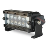 Flashtech BLACK LED Light Bar -  Dual Row 7 inch