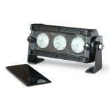 Flashtech Black LED Light Bar - Single Row 6 inch