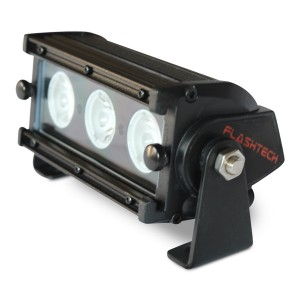 flashtech Flashtech Black LED Light Bar - Single Row 6 inch Single row FT-B1306