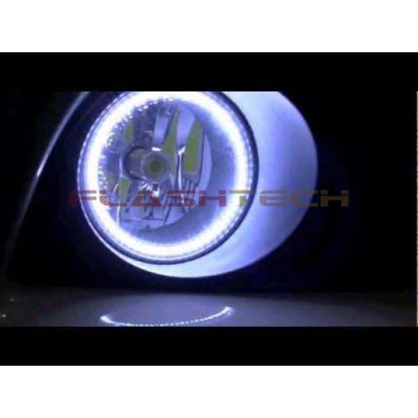 0 600x600 dodge avenger white led halo fog light kit (2008 2010) Fog Light Wiring Diagram at reclaimingppi.co