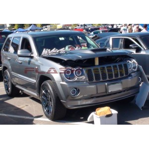 flashtech JEEP GRAND CHEROKEE White LED HALO FOG LIGHT KIT (2005-2010) Grand Cherokee JE-GC0510-WF