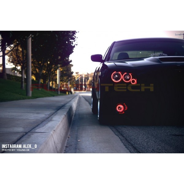 Dodge charger v3 fusion color change led halo fog light kit 2005 dodge charger v3 fusion color change led halo fog light kit 2005 2010 waterproof external halos publicscrutiny Images