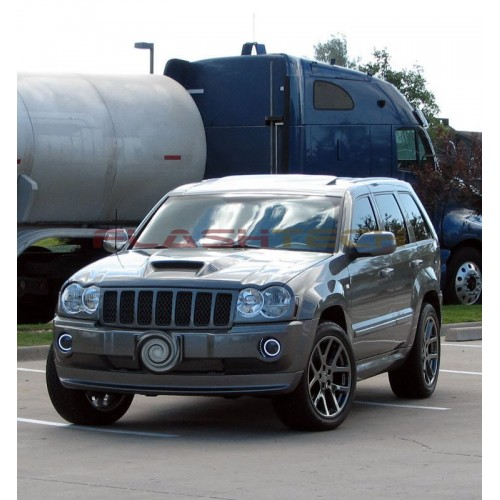 Jeep Grand Cherokee White Led Halo Fog Light Kit 2005 2010