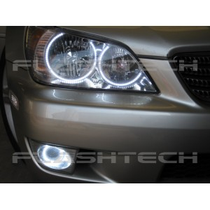 flashtech Lexus is300 White LED HALO FOG LIGHT KIT (2001-2005) Is300 LX-IS30105-WF
