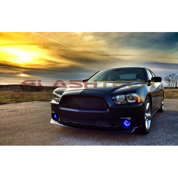 Led Headlight Bulb >> Dodge Charger V.3 Fusion Color Change LED Halo Fog Light ...