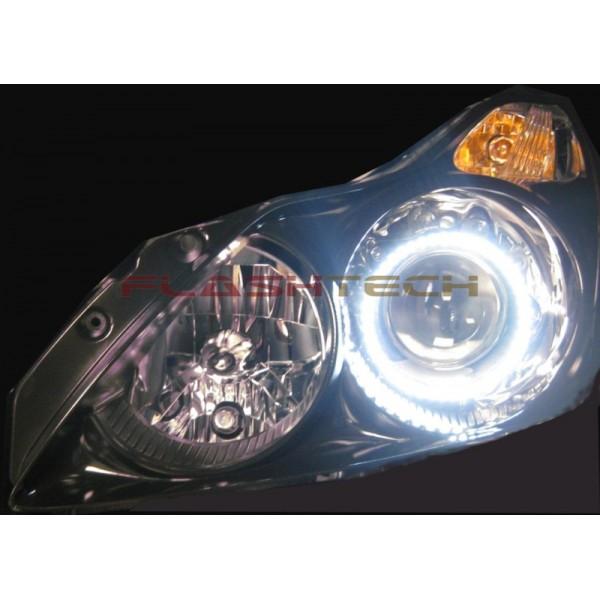FLASHTECH White LED HEADLIGHT HALO KIT for Infiniti G37 ... on