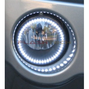 flashtech GMC Sierra White LED HALO FOG LIGHT KIT (2008 - 2013) Sierra GMC-SR0813-WF