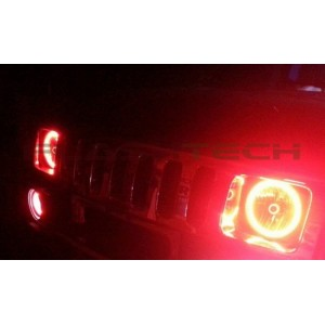 flashtech Hummer H2 V.3 Fusion Color Change LED Halo Headlight Kit (2003-2009) Hummer HU-H203-V3H