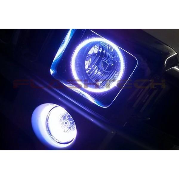 Hummer H3 White Led Halo Headlight Kit 2005 2010