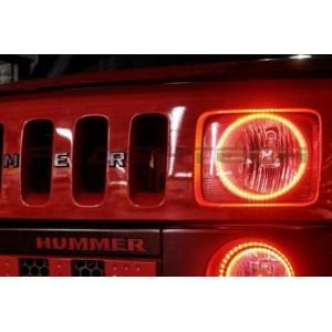 flashtech Hummer H3 V.3 Fusion Color Change LED Halo Headlight Kit (2005-2010) Hummer HU-H30510-V3H