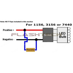flashtech 50 watt 8 ohm load resistor LED FTC21-50W