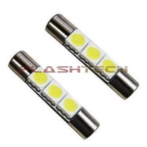 flashtech Flashtech 29mm 3 SMD Led bulb 29mm FT29-3W