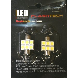 flashtech Flashtech 31mm 6 SMD Led Bulb - Blue 31mm FT31-6B