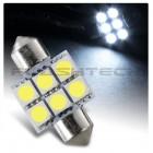 Flashtech 33mm 6 SMD Led Bulb - White