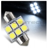Flashtech 33mm 6 SMD Led Bulb - White