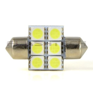 flashtech Flashtech 33mm 6 SMD Led Bulb - White 33mm FT33-6W