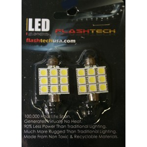 flashtech Flashtech 37mm 9 SMD Led Bulb - Red 37mm FT37-9R
