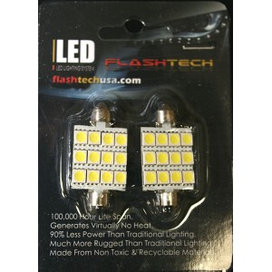 flashtech Flashtech 44mm 12 SMD Led bulb - Yellow 44mm FT44-12Y