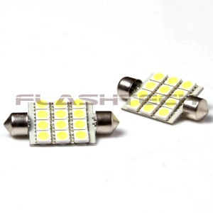 flashtech Flashtech 44mm 12 SMD Led bulb - Amber 44mm FT44-12A