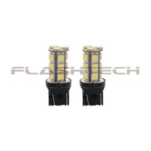 flashtech Flashtech 7440 7443 18 SMD Led Bulb - Amber 7443 FT7443-18A