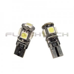 flashtech Flashtech T10 5 SMD Canbus Led Bulb - White Canbus FTT10-5WC