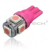 Flashtech T10 5 SMD Led bulb: Purple