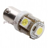 Flashtech BA9S 5 SMD LED Bulb - White