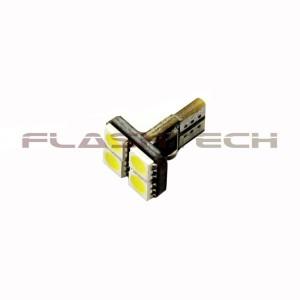 flashtech Flashtech T10 4 SMD Canbus Flat Top Led Bulb - White Canbus FTT10-4FW