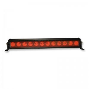 flashtech Colored Light Bar Lens Cover: 21in Red Amber FTBLC-21R