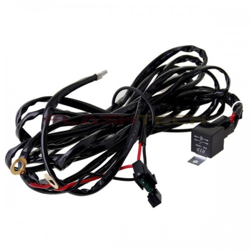 flashtech 40 amp led light bar wiring kit harness relay on  off switch kit single connector Cable Wire Harness Schematic Aircraft Wire Harness