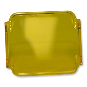flashtech Colored Cube Fog Lens Cover: Yellow Off Road FTCF-LCY