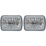 "7"" x 6"" Headlight Assemblies with Fusion V.3 Color Changing Halos Installed (Pair)"