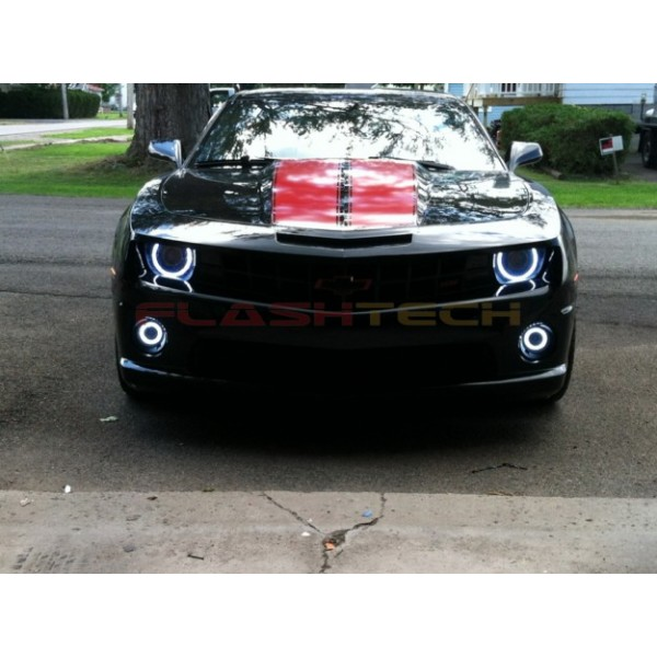 new_halos 600x600 chevrolet camaro non rs white led halo headlight kit (2010 2013) 2010 Camaro OEM Fog Lights at bayanpartner.co