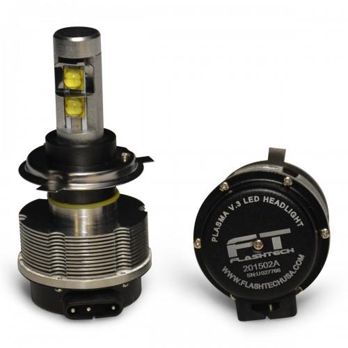 Flashtech V 3 Plasma Led Replacement Headlight Bulbs H4
