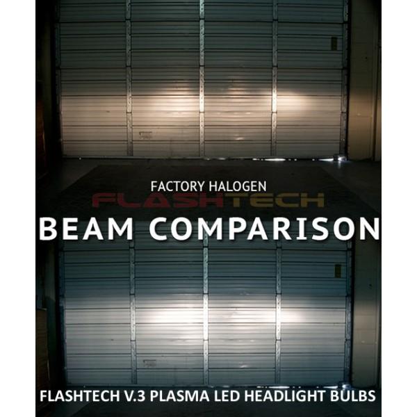 Led Replacement Headlight Bulbs >> Flashtech V 3 Plasma Led Replacement Headlight Bulbs H4 Bulb Size