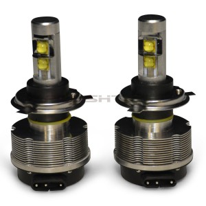flashtech FLASHTECH V.3 Plasma LED Replacement HEADLIGHT BULBS: H4 Bulb Size Dual Beam FTLH-H4.6