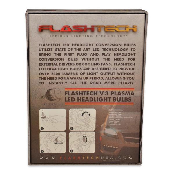 FLASHTECH V 3 Plasma LED Replacement HEADLIGHT BULBS: H7