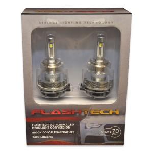 flashtech FLASHTECH V.3 Plasma LED Replacement HEADLIGHT BULBS: H7 Bulb Size Headlight FTLH-H7.6