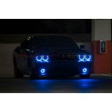 Dodge Challenger V.3 Fusion Color Change External Waterproof LED Halo HeadLight and Fog Light Kit 2008-2014