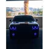 Dodge Challenger V.3 Fusion Color Change External Waterproof LED Halo Fog Light Kit 2008-2014