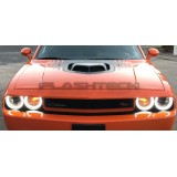 Dodge Challenger External Waterproof White & Amber Switchback LED Halo Headlight Kit (2008 - 2014)