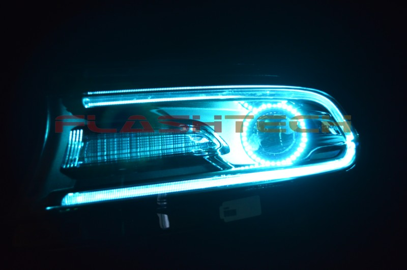 Custom 2015 Ford Fusion >> Dodge Charger V.3 Fusion Color Change LED Halo and DRL Headlight Kit (2015 +) | eBay